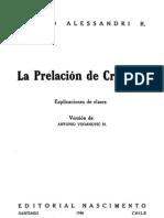 La Prelacion de Creditos - Arturo Alessandri r