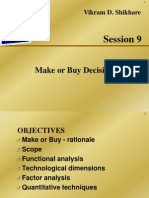 L -9 Make or Buy Decision