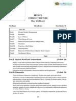 Syllabus 11 Physics