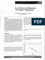 Analysis Errors Historical Use of Archie Equations