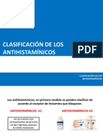 CLASIFICACIÓN DE LOS ANTIHISTAMÍNICOS