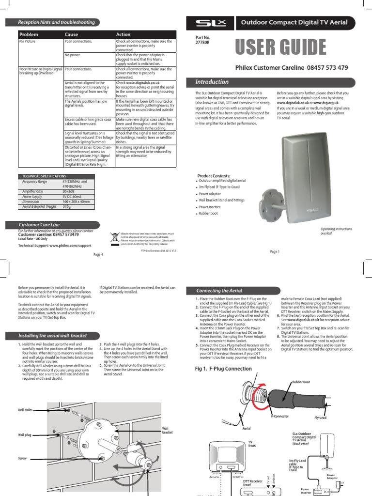 Manual Philex Manual philex slxSlx | Ac Power Plugs And