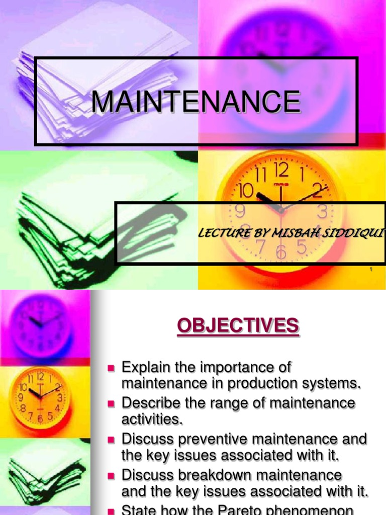 Maintenance- ppt | Reliability Engineering | Causality