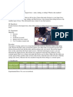 Science Friction Lab Report -Science