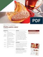 R1012 Recette Classique - Petit Pains Coeur