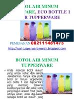 Botol Air Minum Tupperware, Eco Bottle 1 Liter Tupperware
