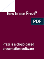 How to Use Prezi, a sample tutorial