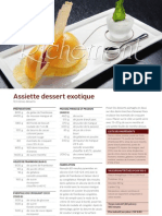 R1202 Assiette Dessert Exotique