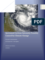 Increased Cyclone Intensity Possibly Caused by Climate Change