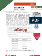 Consumible original para impresora color Kyocera FS C5400DN