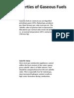 Properties of Gaseous Fuel