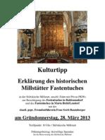 Stiftskirche Millstatt :Fastentuchführung 2013