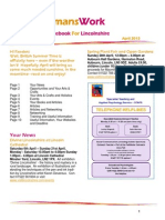 WomansWork Notebook For Lincolnshire April 2013