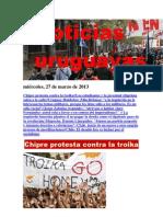 Noticias Uruguayas miércoles 27 de marzo del 2013