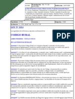 CODIGO RURAL FORMOSA- Ley N° 1314