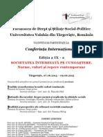 Conferinta Internationala Targoviste 2013 RO