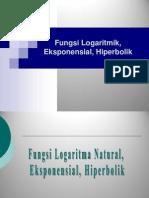 Fungsi Logaritmik Eksponensial Hiperbolik