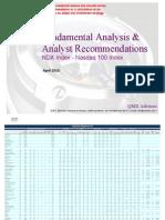 Fundamental Equity Analysis - Nasdaq 100 Index Members (NDX Index)