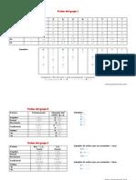 Tabla resumen de conjugación de verbos