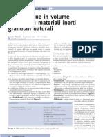 La filtrazione in volume operata su materiali inerti granulari naturali
