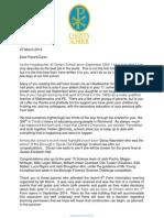 Headteacher's Newsletter March 2013