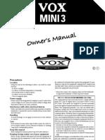 VOX Mini 3 Manuals