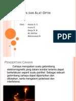 Cahaya Dan Alat Optik