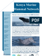 The Kenya Marine Mammal Network Newsletter_Issue 2