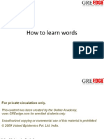 Learning Words for GRE