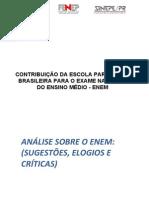 CONTRIBUIÇÃO DA ESCOLA PARTICULAR BRASILEIRA PARA O EXAME NACIONAL DO ENSINO MÉDIO - ENEM