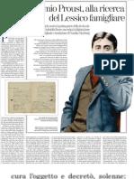 Proust e Il Suo Doppio, Le Due Vite de La Recherche - La Stampa 27.03.2013