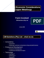 Process and Economic Considerations in Copper Metallurgy