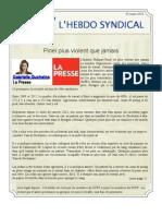 30. l'Hebdo Syndical 25 Mars 2013