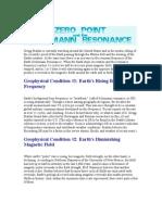 Zero Point & Schumann Resonance