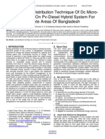A Novel Load Distribution Technique of Dc Micro Grid Scheme on Pv Diesel Hybrid System for Remote Areas of Bangladesh
