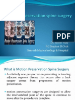 Motion Preservation Spine Surgery
