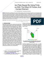 Analysis of Disc Plate Squeal by Using Finite Element Software With the Effect of Friction and Contact Element