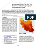 Technical and Economic Study for Use the Photovoltaic Systems for Electricity Supply in Isfahan Museum Park