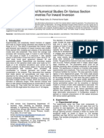 Experimental and Numerical Studies on Various Section Geometries for Inward Inversion