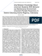 The Relationship Between Knowledge About Cleanliness Environment Students With Behavior in Cleanliness Maintenance Environment Studies in Environment Pondok Pesantrens in District Cikoneng Ciamis Regency Indonesia