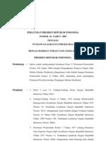 Peraturan Presiden No 26, 27 Dan 28 Thn 2007 Ttg Tunjangan Struktural PNS, TNI Dan POLRI