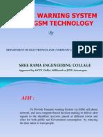 Tsunami Warning System by GSM