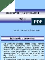 Objetivos Unidade I - PNAIC