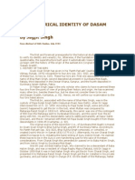 The Historical Identity of Dasam Granth