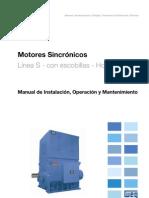 WEG Motores Sincronos Con Escobillas 11588779 Manual Espanol
