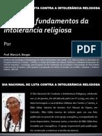 PALESTRA DIA CONTRA A INTOLERÂNCIA RELIGIOSA