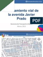 Ordenamiento vial de la Av. Javier Prado