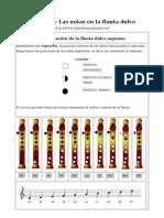 Flauta Notas