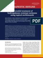8 Successful Treatment of Hydroquinone-resistant Melasma