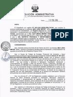 Resolución Administrativa N°236-2013